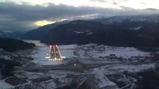 Landing at Sandane, Norway
