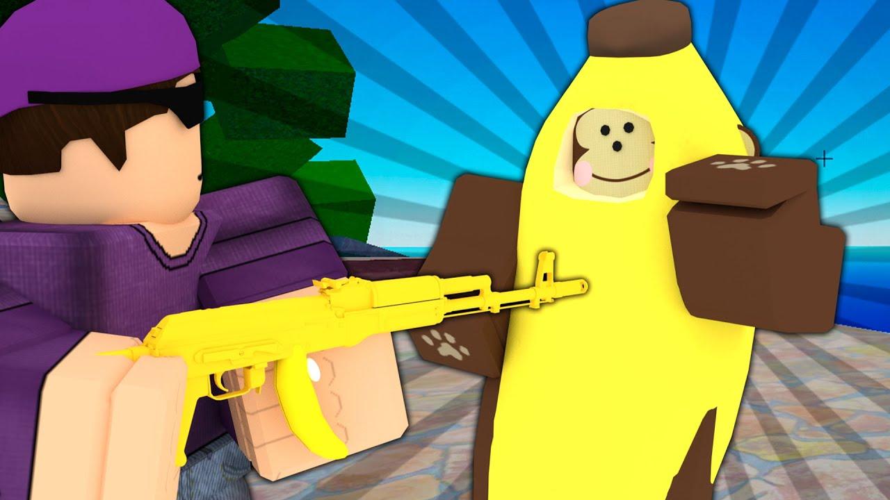 I found a real monkey skin, so I 1v1'd him.. (Roblox Arsenal)
