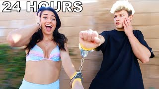 Handcuffed to my CRUSH  for 24 hours!