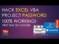 Hack Excel VBA Project Password. Solved 100% Free No software