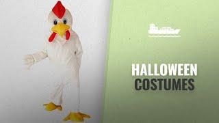 Dream-Store Men Halloween Costumes [2018]: White Chicken Rooster Mascot Costume Cartoon Halloween