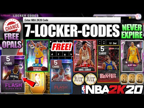 7 ACTIVE LOCKER CODES! CHANCE AT FREE GALAXY OPALS, PINK DIAMONDS AND MORE IN NBA 2K20 MYTEAM