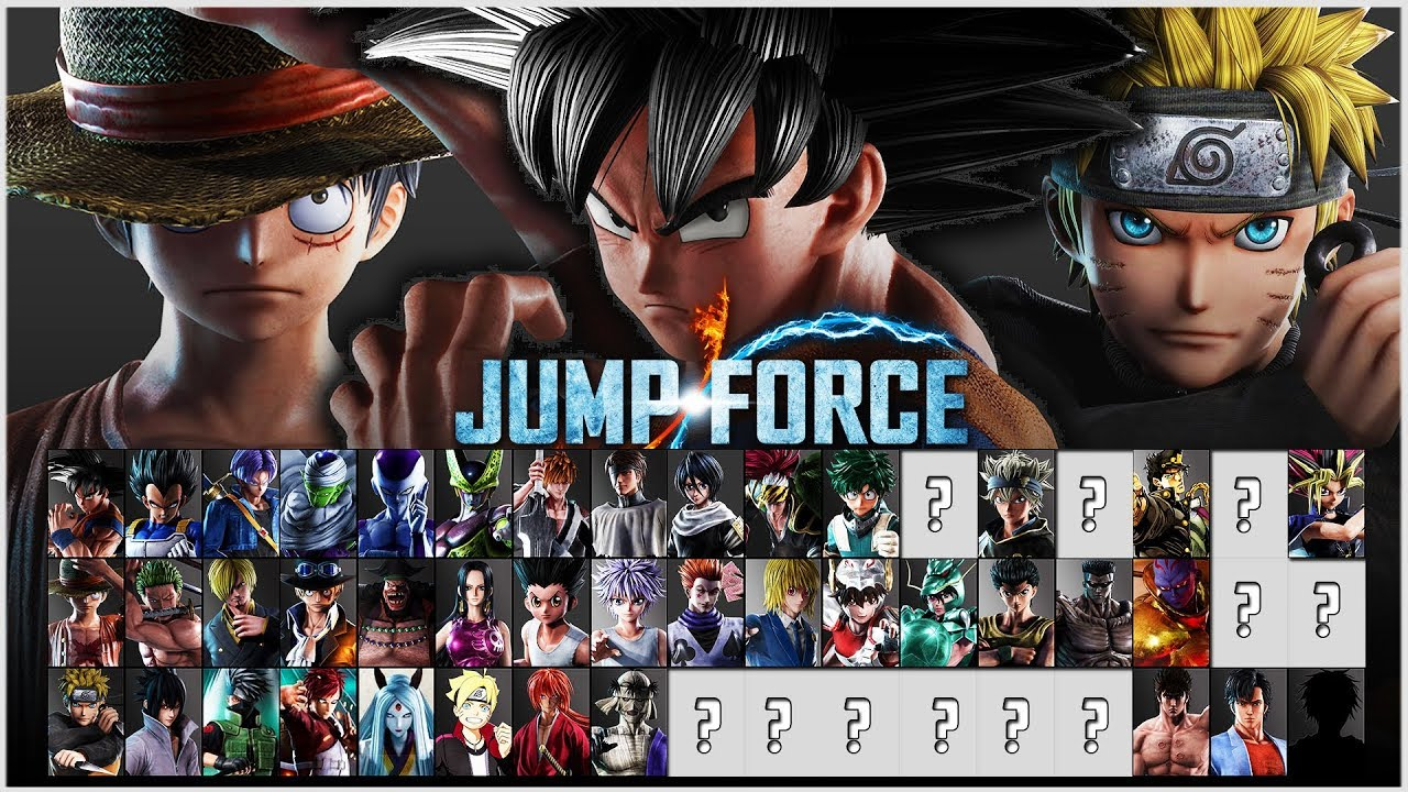 Jump Force All Characters