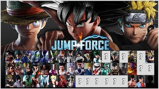 Jump Force - Full Final Character Roster! (Prediction)