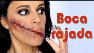 Tutorial maquillaje corte sin boca Makeup FX #72   Silvia Quiros