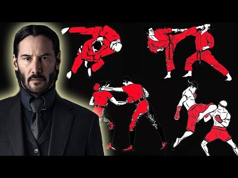 How many fighting styles does John Wick know in John Wick: Chapter 2?