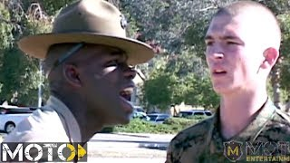 Marine Corps Drill Instructor Teaches Recruit To Report His Post