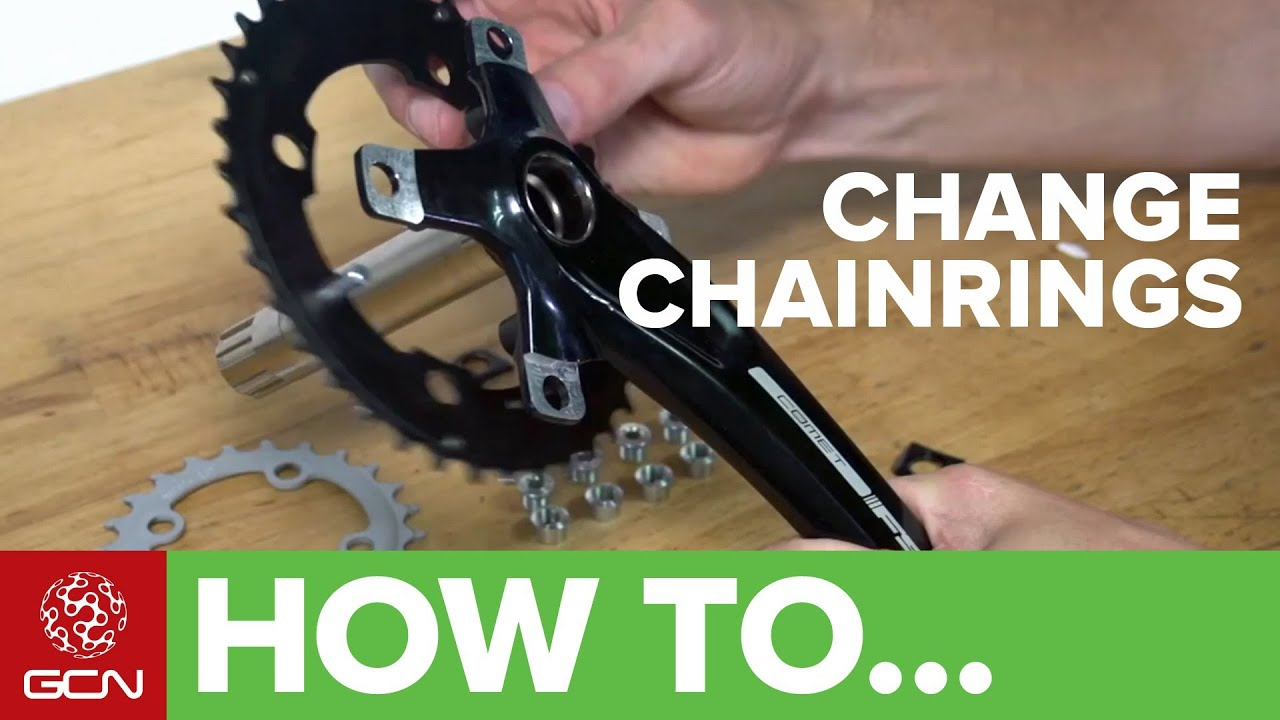 Mountain Bike Crankset >> How To Change Chainrings - Changing Your Chain Rings For Road Or Mountain Bikes - YouTube