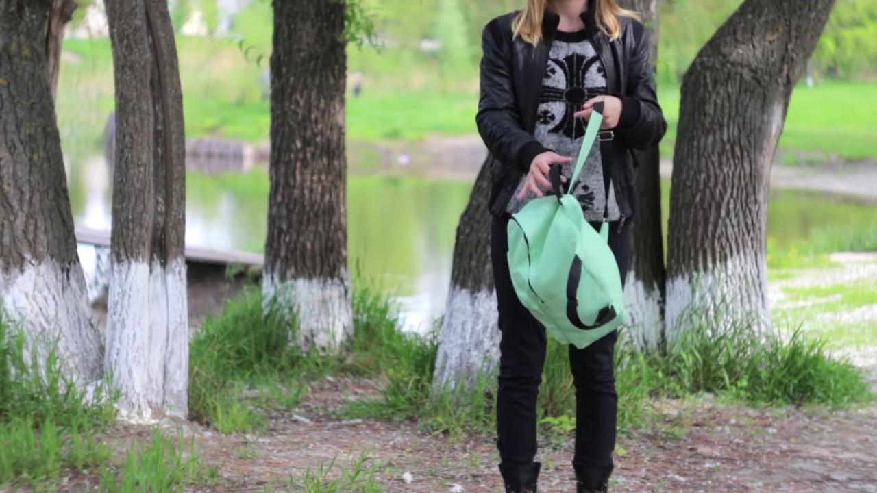Женская сумка-рюкзак синяя с прочным каркасом купить в Украине .