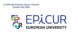 1st EPICUR Student's Event in Poznań