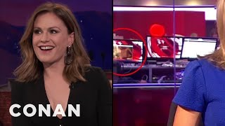 Anna Paquin's Breasts Were On BBC News  - CONAN on TBS