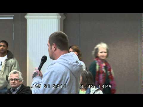 Charles Schwartz, union carpenter seeking work, disparages seniors/retired