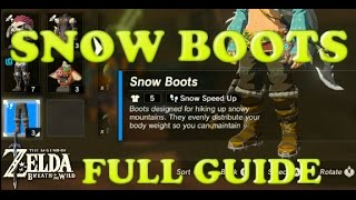 HOW TO GET SAND BOOTS and SNOW BOOTS STEP BY STEP - Zelda: BotW