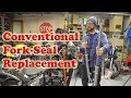 Fork Seal Replacement - Conventional Motorcycle How To Kawasaki 454 EN450