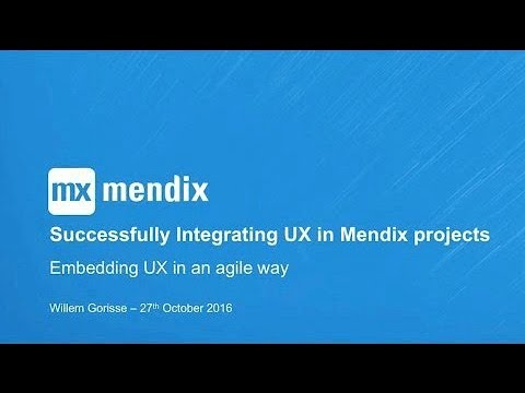 Expert Webinar Series | Integrating UX in Mendix Projects