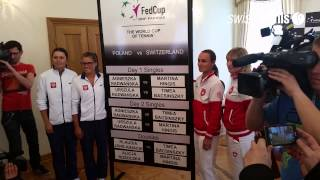 Fed Cup Poland-Switzerland: Draw