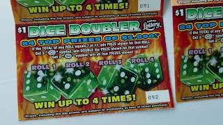 Florida Lottery $ (10) $1 Dice Doubler & (5) $2 Monopoly Jackpot Tickets