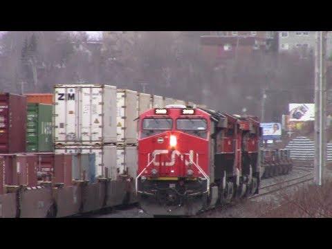 CN 121's Power at Rockingham Yard - Halifax, NS (April 16, 2018)