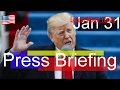 NEWS ALERT , President Donald Trump Latest News Today 1/31/17 , White House news W Sean Spicer |Apr