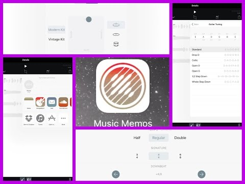 Music Memos by Apple, Demo and Tutorial for iPad and iPhone