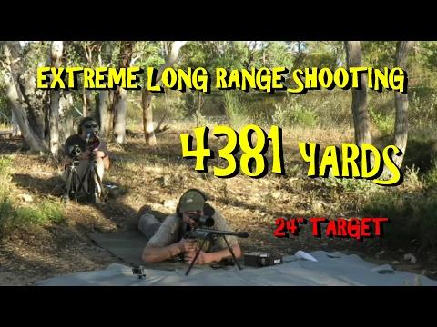 4km Extreme Long Range rifle shot (4384 yards) 375 Cheytac Improved