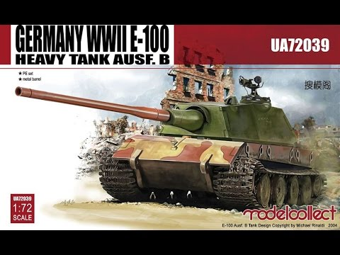 Modelcollect Germany WWII E-100 Heavy Tank...