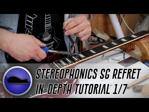 Re-Fretting Kelly Jones of Stereophonics' #1 SG: Introduction, Measuring, Nut & Fret removal