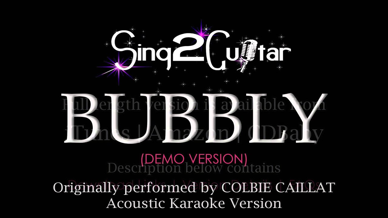Bubbly Acoustic Karaoke Version Colbie Caillat Youtube
