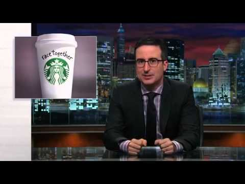 John Oliver blasts Howard Schultz for Starbucks' Race Together