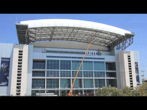 Reliant Stadium NEW logo timelapse