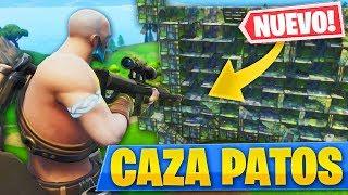 JUGANDO A CAZA PATOS CON EL NUEVO *SNIPER PESADO* EN PATIO DE JUEGOS de FORTNITE: Battle Royale!