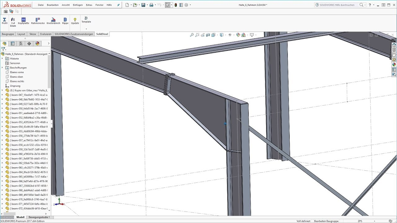 Structural Steel Design With Solidworks Solidsteel Parametric 3d Cad Steelwork Teaser 3