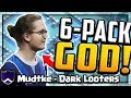 He's a SIX-PACK GOD! LIVE Attack - Clash of Clans Mudtke - Dark Looters