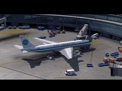 Aerosoft Douglas DC-8: Cold & Dark Startup Procedure & Takeoff