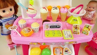 [9.45 MB] Baby doll Ice Cream and food cart toys Baby Doli play