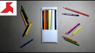 DIY - Как сделать КОРОБКУ ДЛЯ КАРАНДАШЕЙ из бумаги А4 своими руками?