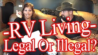 Is Rv Living Legal Or Illegal  Tiny Home  -hud