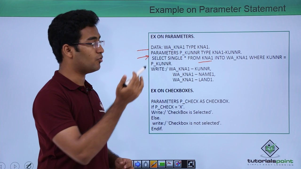 SAP ABAP - Selection screens - Parameter Options
