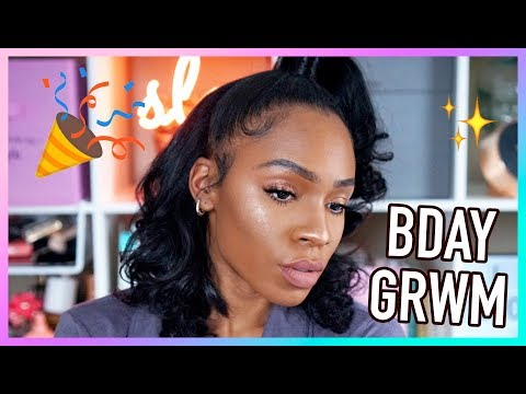 SURPRISE BIRTHDAY GRWM! Full Glam for the Turn Up
