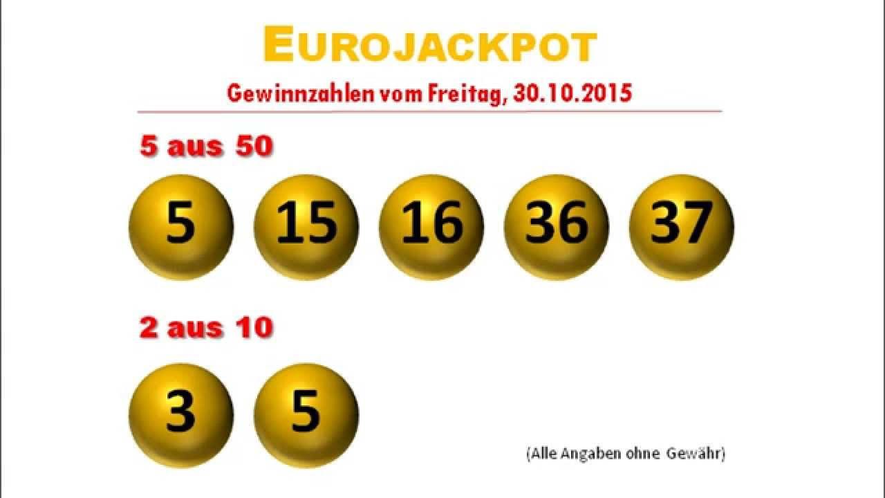 Euro Jackpotzahlen