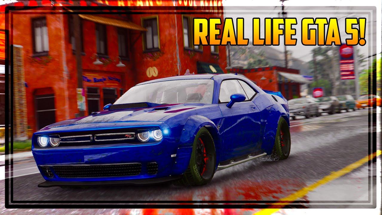 GTA 6 GRAPHICS & REAL LIFE CARS IN GTA 5! (Mods Gameplay