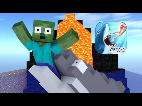 Monster School : Hungry Shark Evolution Challenge - Minecraft Animation