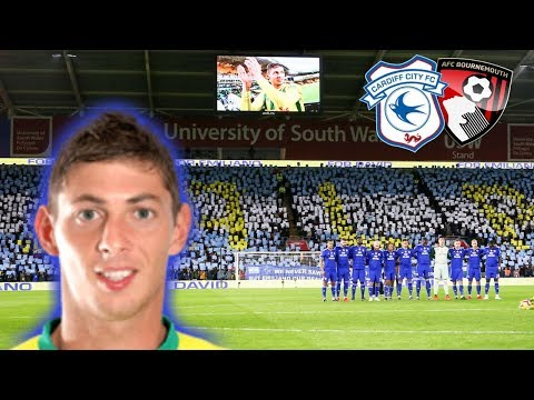 AN EMOTIONAL DAY FOR CARDIFF CITY - Emiliano Sala Tribute - CARDIFF CITY 2-0 BOURNEMOUTH