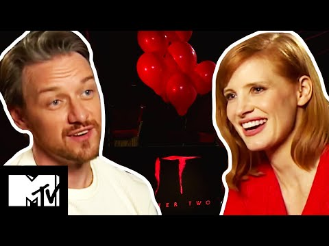 The IT Chapter 2 Cast James McAvoy & Jessica Chastain Play Guess The Movie Monster | MTV Movies