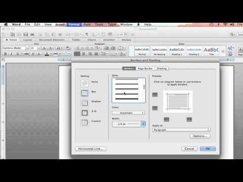 How to Add Custom Borders on Microsoft Word : Microsoft Word Help