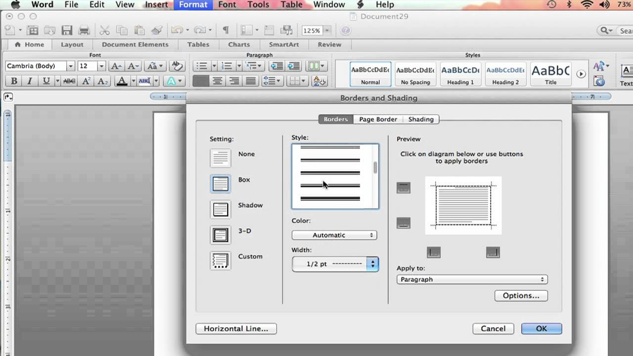 How to Add Custom Borders on Microsoft Word : Microsoft Word Help ...