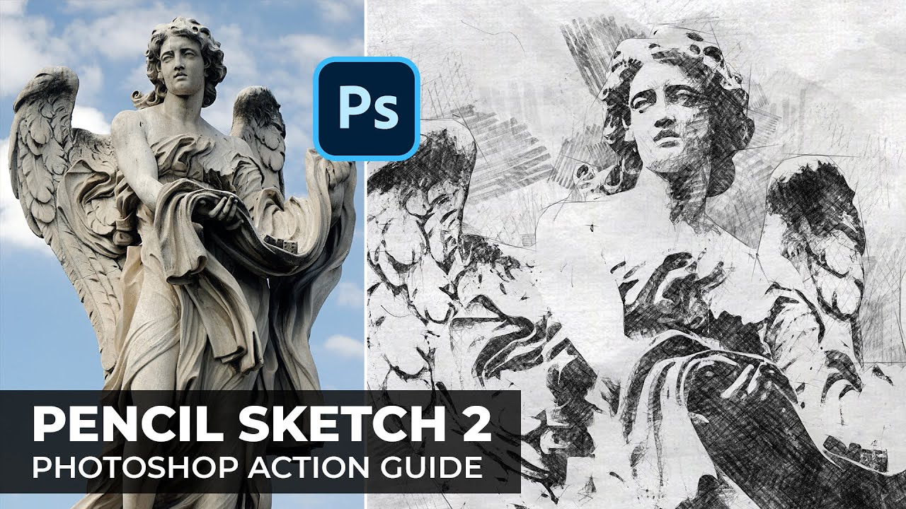 7e9c996ab8e Pencil Sketch 2 Photoshop Action Guide - YouTube