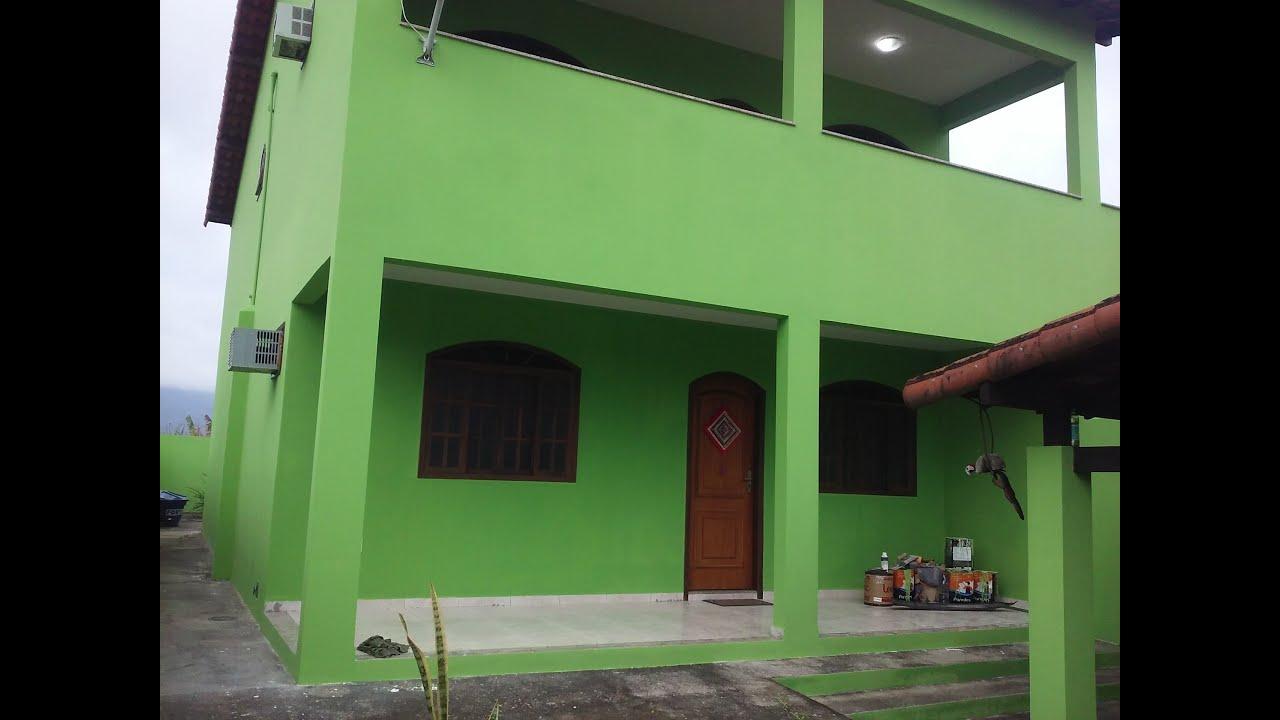 Repintando uma casa com verde lim o da hidronorth youtube for Casas pintadas por dentro