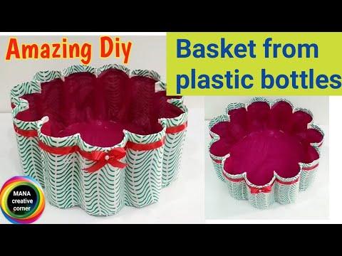 Best out of waste plastic bottle basket#plastic bottle craft idea#waste plastic bottle reuse idea#