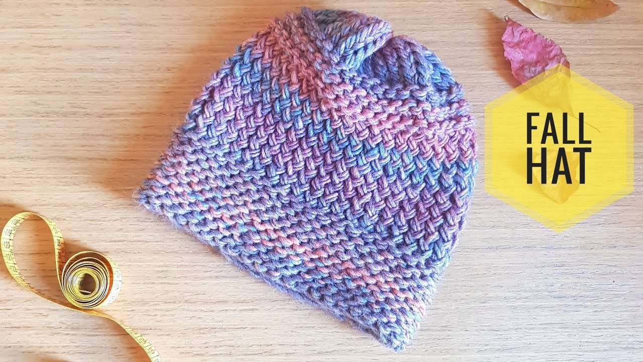 How To Loom Knit A Twisted Stockinette Stitch Fall Hat Diy Tutorial